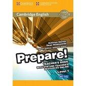 """Cambridge English Prepare! Level 1 Teacher's Book+DVD"" (книга вчителя+аудіодиск) - фото обкладинки книги"