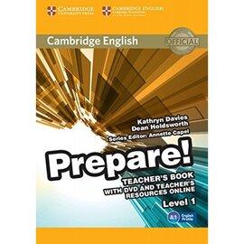 """Cambridge English Prepare! Level 1 Teacher's Book+DVD"" (книга вчителя+аудіодиск) - фото книги"