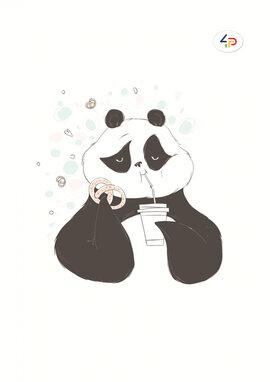 """Funny series"" panda and cake, B6 - фото книги"
