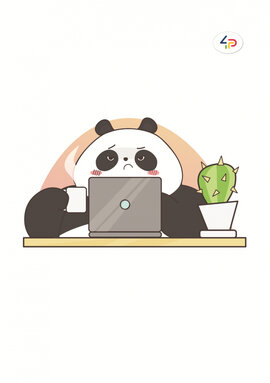 """Funny series"" panda at work, B6 - фото книги"