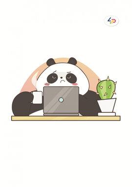 """Funny series"" panda at work, B6 - фото книги"