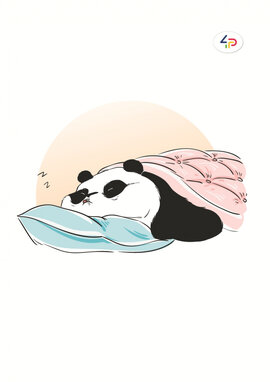 """Funny series"" panda is sleeping, B6 - фото книги"