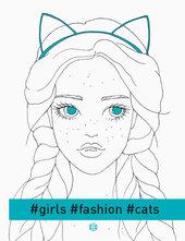 #girls#fashion#cats