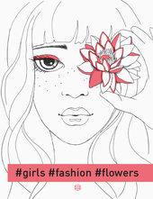 #girls#fashion#flowers - фото обкладинки книги