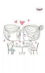"""""""Lovers in a cafe"""" B6 - фото обкладинки книги"""