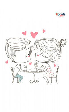 """""""Lovers in a cafe"""" B6 - фото книги"""