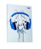 """Music note giraffe"" А5 - фото обкладинки книги"