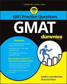 1,001 GMAT Practice Questions For Dummies - фото книги