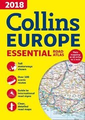 2018 Collins Essential Road Atlas Europe