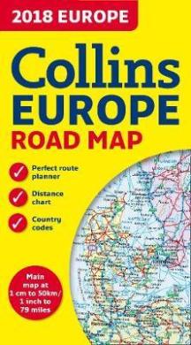2018 Collins Map of Europe - фото книги