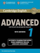 Cambridge English Advanced 1 for Revised Exam from 2015 Student's Book Pack (Student's Book with Answers and Audio CDs (2)) - фото обкладинки книги