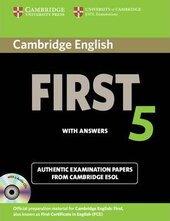 Cambridge English First 5 Self-study Pack (Student's Book with Answers and Audio CDs (2)): Authentic Examination Papers from Cambridge ESOL - фото обкладинки книги
