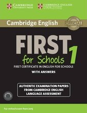 Cambridge English First 1 for Schools (for revised exam 2015) Student's Book Pack (Student's Book with Answers and Audio CDs (2)) - фото обкладинки книги