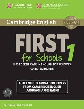 Cambridge English First 1 for Schools (for revised exam 2015) Student's Book Pack (Student's Book with Answers and Audio CDs (2)) - фото книги
