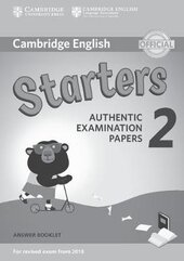 Cambridge English Young Learners 2 for Revised Exam from 2018 Starters Answer Booklet (брошура з відповідями): Authentic Examination Papers - фото обкладинки книги