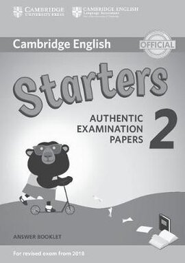 Cambridge English Young Learners 2 for Revised Exam from 2018 Starters Answer Booklet (брошура з відповідями): Authentic Examination Papers - фото книги
