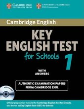 Cambridge KET for Schools 1 Student's Book with Answers + CD. Official Examination Papers from University of Cambridge ESOL Examinations - фото обкладинки книги