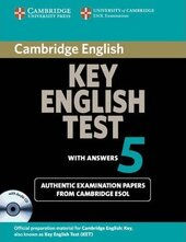 Cambridge Key English Test 5 Student's Book with answers+CD. Official Examination Papers from University of Cambridge ESOL Examinations - фото обкладинки книги