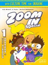 Zoom in special 1. Student's Book & Workbook with CD-ROM and Culture Time for Ukraine (підручник+роб.зошит+аудіодиск+українознавчий матеріал) - фото обкладинки книги