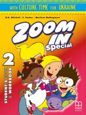 Zoom in special 2. Student's Book & Workbook with CD-ROM and Culture Time for Ukraine (підручник+роб.зошит+аудіодиск+українознавчий матеріал) - фото обкладинки книги