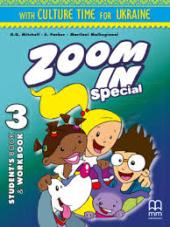 Zoom in special 3. Student's Book & Workbook with CD-ROM and Culture Time for Ukraine (підручник+роб.зошит+аудіодиск+українознавчий матеріал) - фото обкладинки книги
