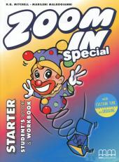 Zoom in Starter. Student's Book & Workbook with CD-ROM and Culture Time for Ukraine (підручник+роб.зошит+аудіодиск+українознавчий матеріал) - фото обкладинки книги