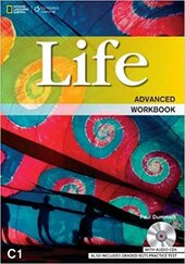 National Geographic Learn Cengage Learning Life Advanced Workbook C1 Paul Dummett; John Hughes; Helen Stephenson with Audio CDs also includes Graded IELTS Practice Test - фото обкладинки книги