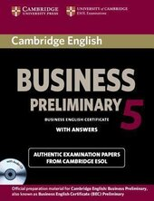 BEC Practice Tests: Cambridge English Business 5 Preliminary Self-study Pack (Student's Book with Answers and Audio CD) - фото обкладинки книги