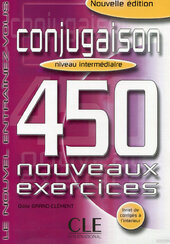 450 nouveaux exerc Conjugaison Interm Livre + corriges (підручник) - фото обкладинки книги