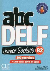 ABC DELF Junior : Livre de l'eleve B2 + DVD + Livre-web - 2eme edition - фото обкладинки книги