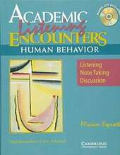 Academic Encounters Human Behavior Student's Book with Audio CD: Listening, Note Taking, and Discussion - фото обкладинки книги