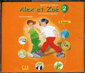 Alex et Zoe 2. CDs audio (набір із 3 аудіодисків) - фото обкладинки книги