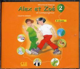 Alex et Zoe 2. CDs audio (набір із 3 аудіодисків) - фото книги