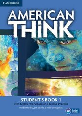 American Think 1. Student's Book with Online Workbook & Online Practice (підручник + робочий зошит онлайн) - фото обкладинки книги