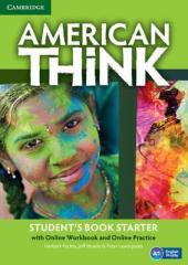 American Think Starter. Student's Book with Online Workbook & Online Practice (підручник + робочий зошит онлайн) - фото обкладинки книги