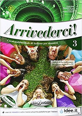 Arrivederci! 3 Libro dello studente ed esercizi + CD audio (підручник + роб.зошит+аудіодиск) - фото книги