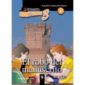 Aventuras para 3 (A2). El robo del manuscrito. Book 9 - фото обкладинки книги