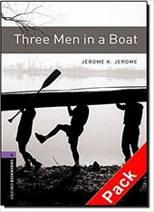 BKWM 3rd Edition 4: Three Men in a Boat with Audio CD (книга та аудiо) - фото обкладинки книги