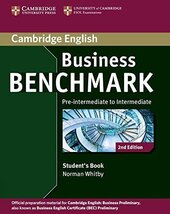 Business Benchmark Pre-intermediate to Intermediate Student's Book (підручник) - фото обкладинки книги
