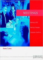 Business Skills Series: Meetings - фото обкладинки книги