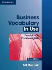Business Vocabulary in Use Elementary to Pre-intermediate with Answers - фото обкладинки книги