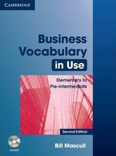 Business Vocabulary in Use: Elementary to Pre-intermediate with Answers and CD-ROM - фото обкладинки книги