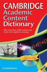 Cambridge Academic Content Dictionary Reference Book with CD-ROM - фото обкладинки книги