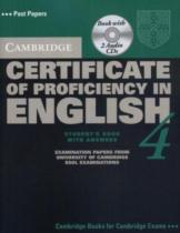 Аудіодиск Cambridge Certificate of Proficiency in English 4 Self Study Pack