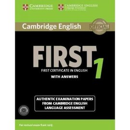 Cambridge English First 1 Student's Book+answers+Audio CD's  (підручник+аудіодиск) - фото книги