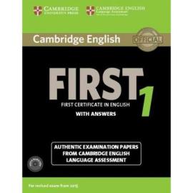 Cambridge English First 1 Student's Book+answers+Audio CD's  (підручник+аудіодиск) - фото книги