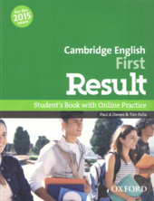 Cambridge English First Result: Student's Book with Online Skills Practice (підручник) - фото обкладинки книги