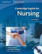 Cambridge English for Nursing Intermediate Student's Book+CD's (підручник+аудіодиск) - фото обкладинки книги