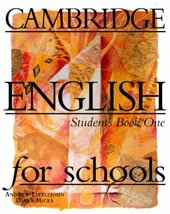 Cambridge English for Schools 1. Student's Book - фото обкладинки книги