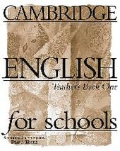 Cambridge English for Schools 1. Teacher's book - фото обкладинки книги